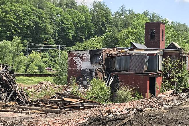 Ashuelot Recreational Rail Trail Crumbling Paper Mill Along the southern end of the trail there are many scenes like this.