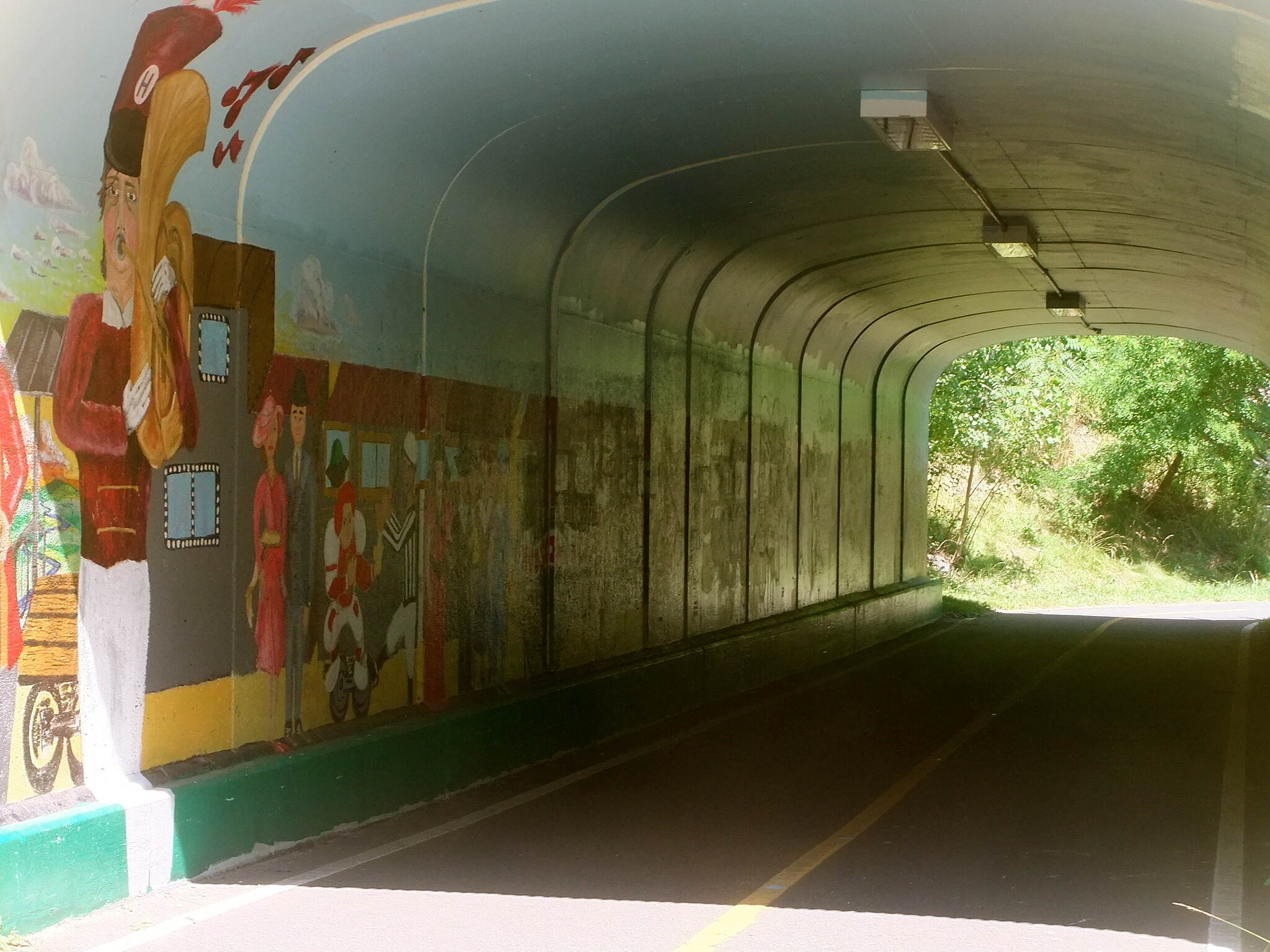 Assabet River Rail Trail Tunnel Art