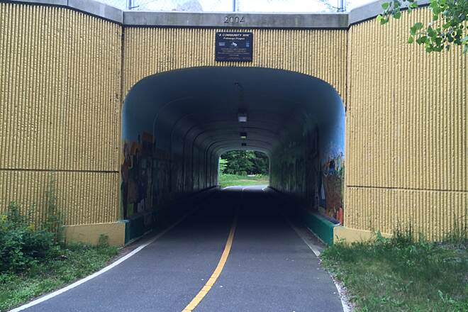 Assabet River Rail Trail tunnel cute tunnel