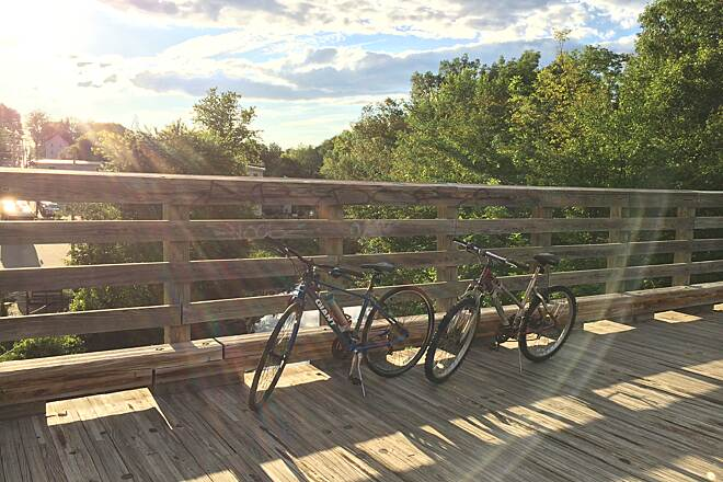 Assabet River Rail Trail Bridge Summer 2014