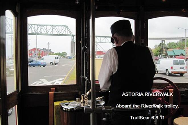 Astoria Riverwalk ASTORIA RIVERWALK You have to ride the trolley down the trail