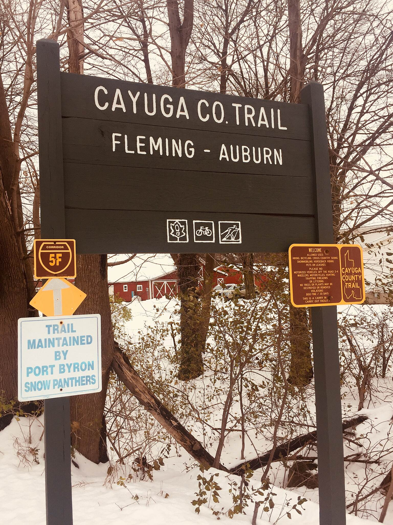 Auburn-Fleming Trail Snowshoeing November 17, 2018 Trail Head on State St.