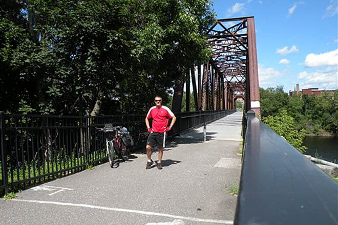 Auburn Riverwalk Lewiston Auburn Bridge Nice view of the Androscoggin River from this bridge.