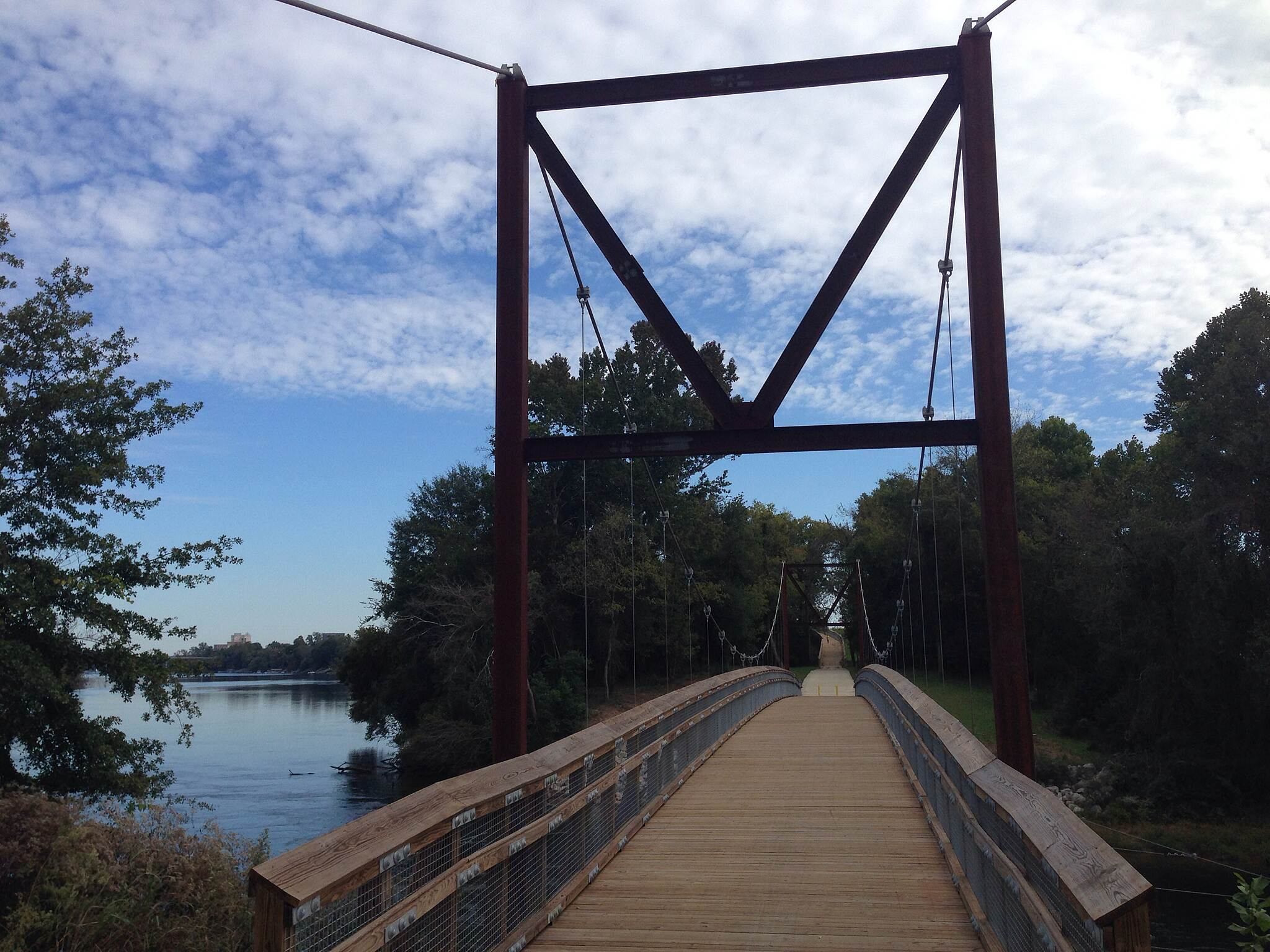 Augusta Canal Trail New suspension bridge