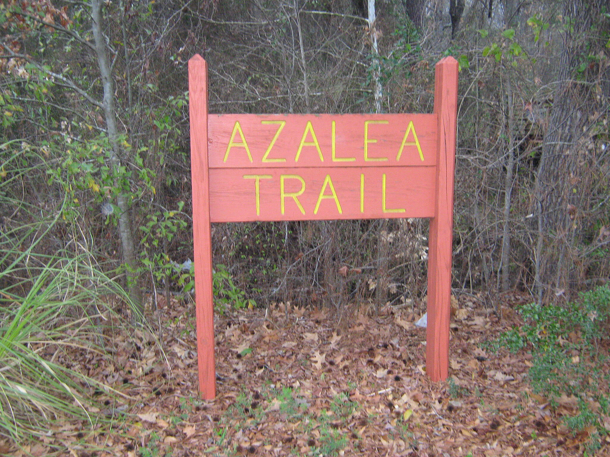 Azalea Trail Azalea Trail - Lufkin Entrance to the trail.