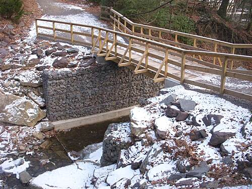 Back Mountain Trail Bridge at Wildcat Creek December 27, 2010