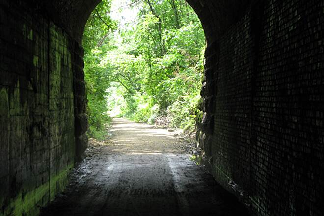 Badger State Trail Tunnel on Badger State Trail Leaving Tunnel on South end
