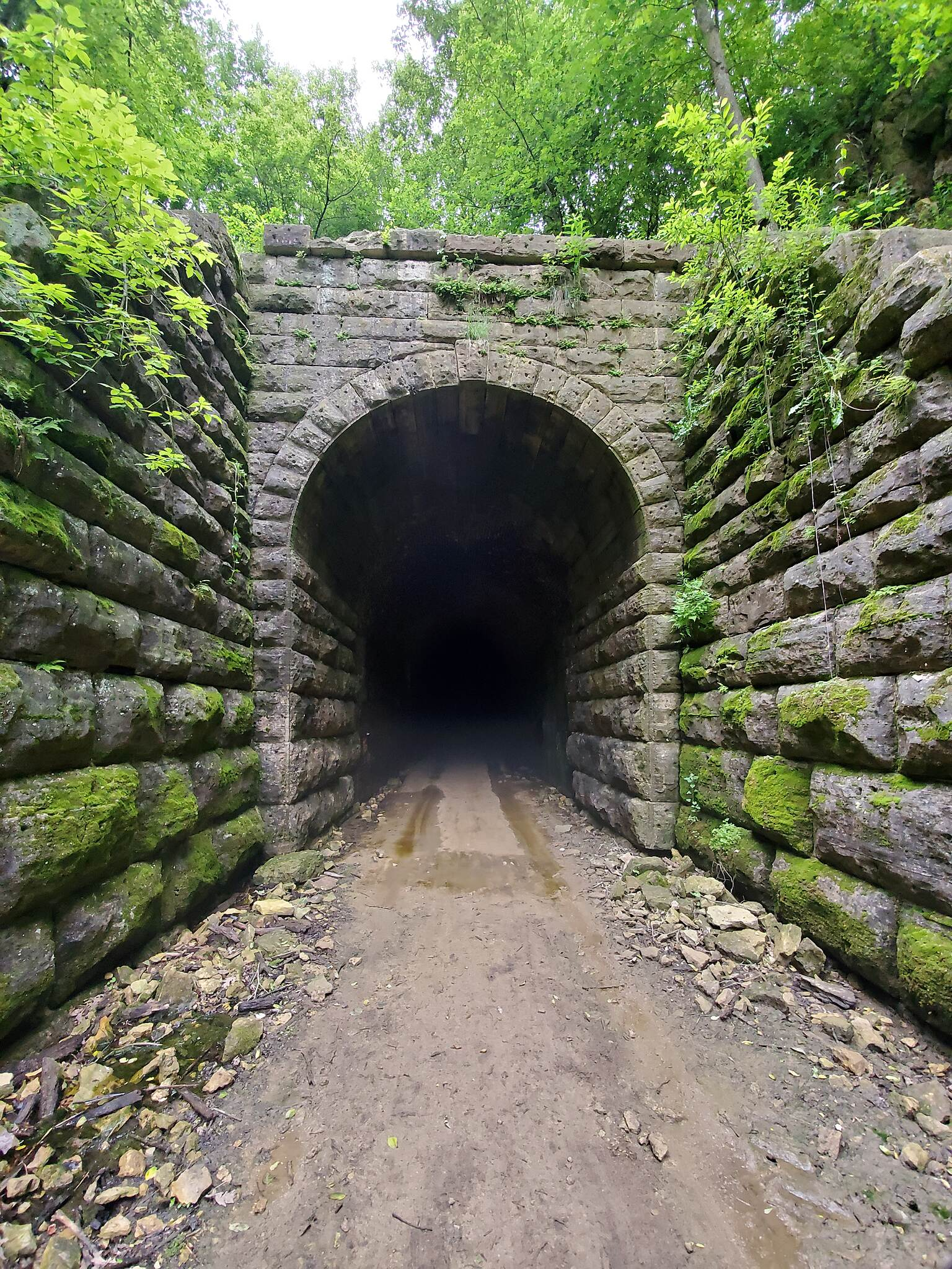 Badger State Trail South entrance to the Stewart Tunnel Photo taken 6/22/2019