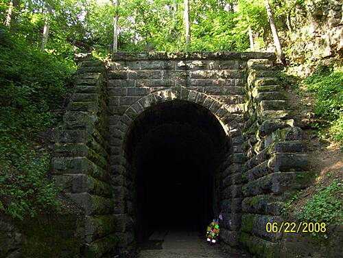 Badger State Trail  Stewart Tunnel 1,200 '.