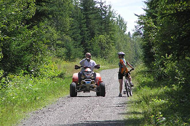Bangor and Aroostook Trail Bikes and ATVs Share Trail