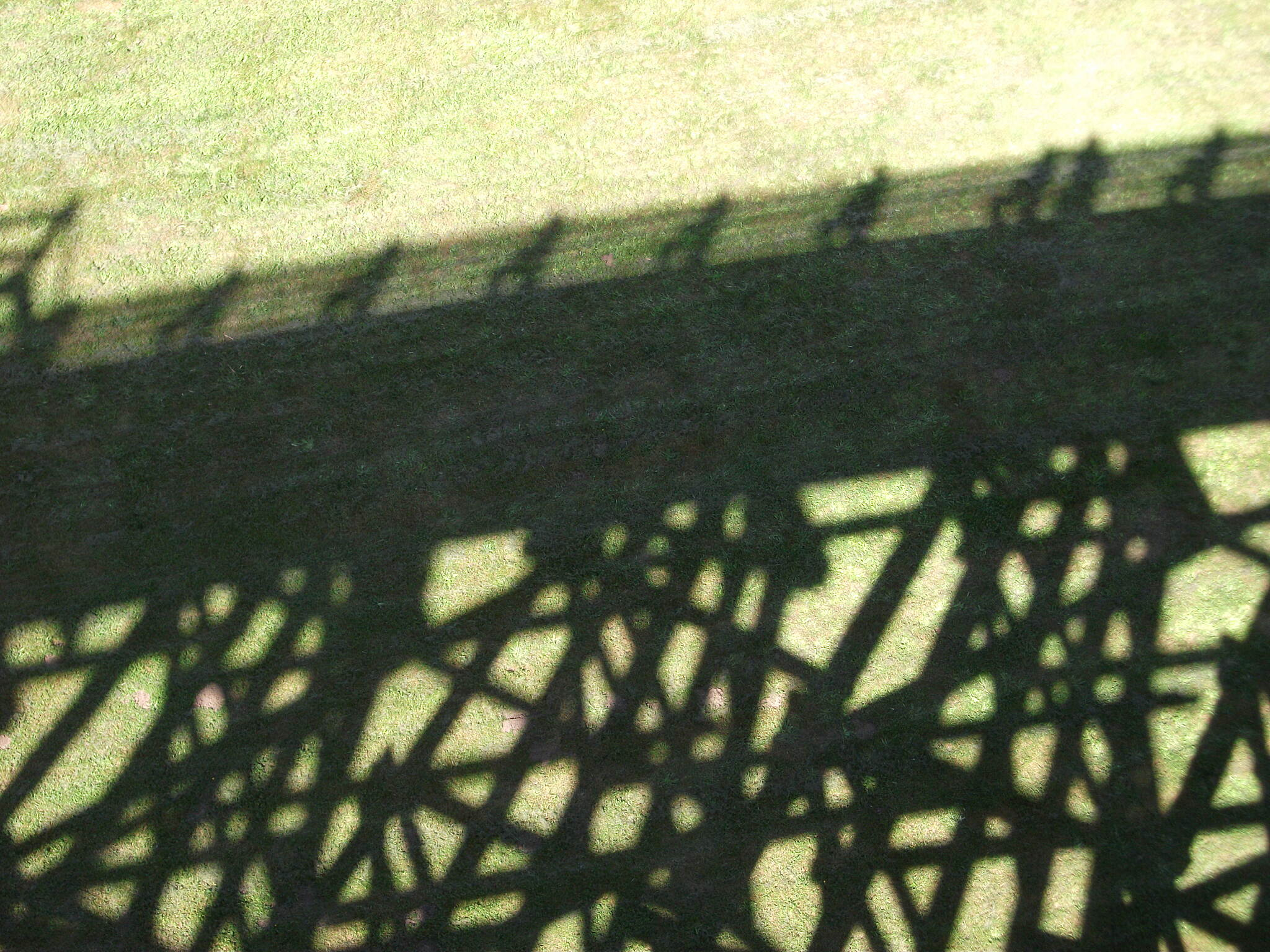 Banks-Vernonia State Trail Buxton bridge shadow.