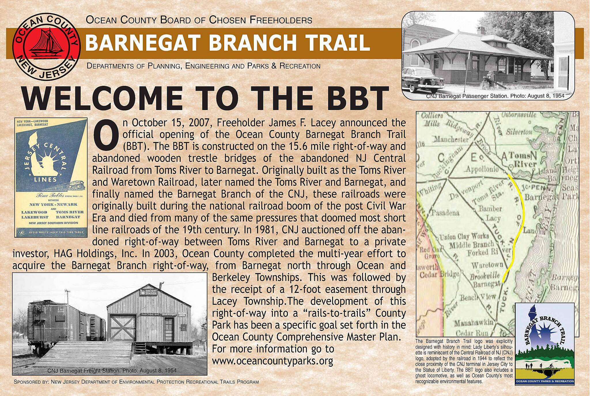 Barnegat Branch Trail WELCOME Interplative Signage