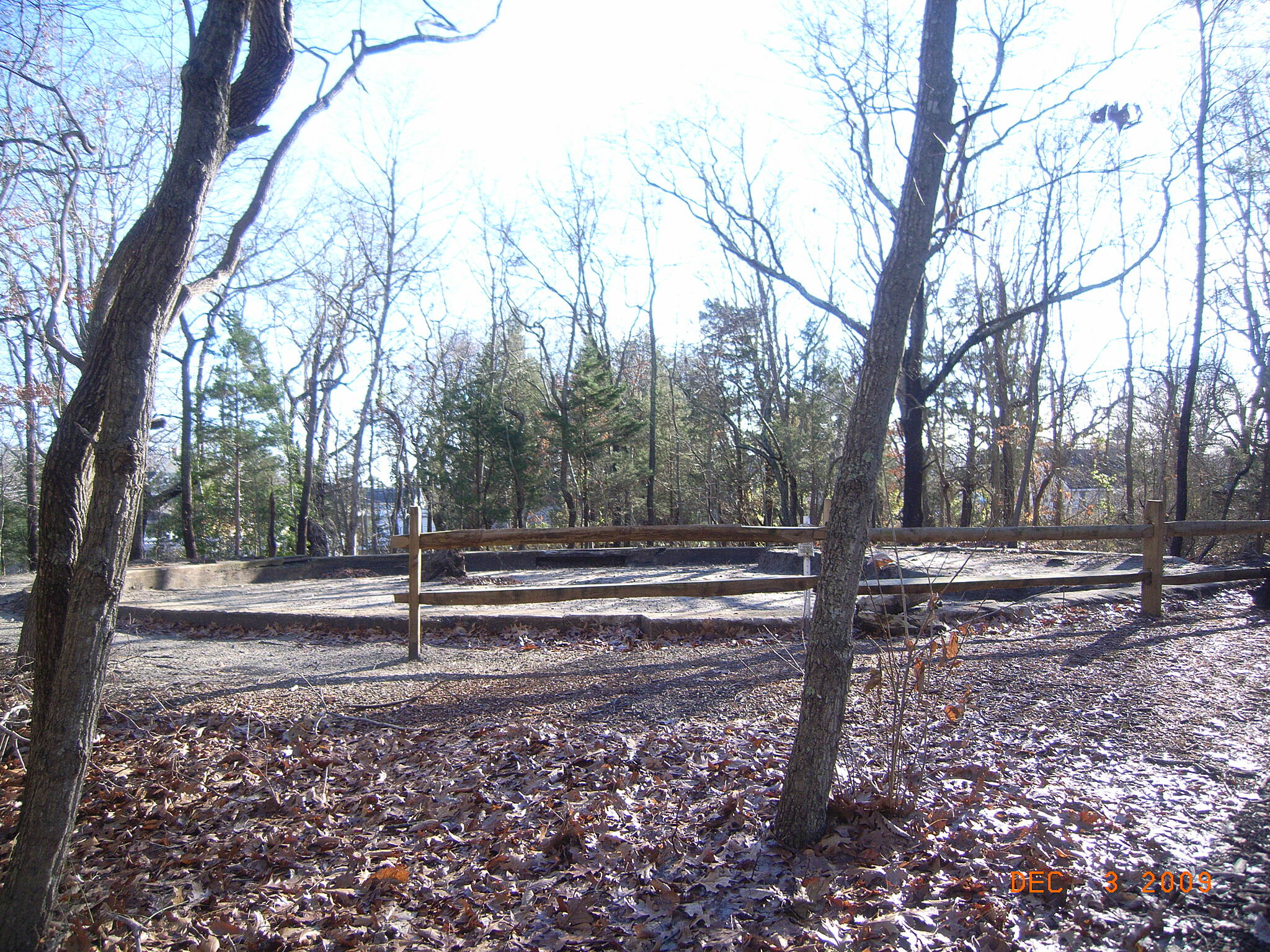Barnegat Branch Trail Turntable Historic turntable uncovered
