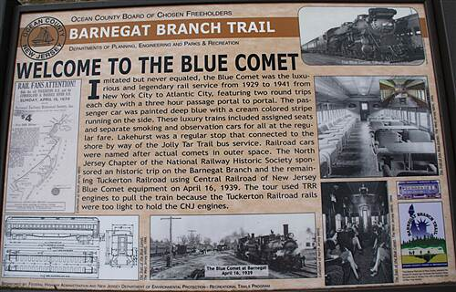 Barnegat Branch Trail Barnegat Branch Trail Welcome to the Blue Comet