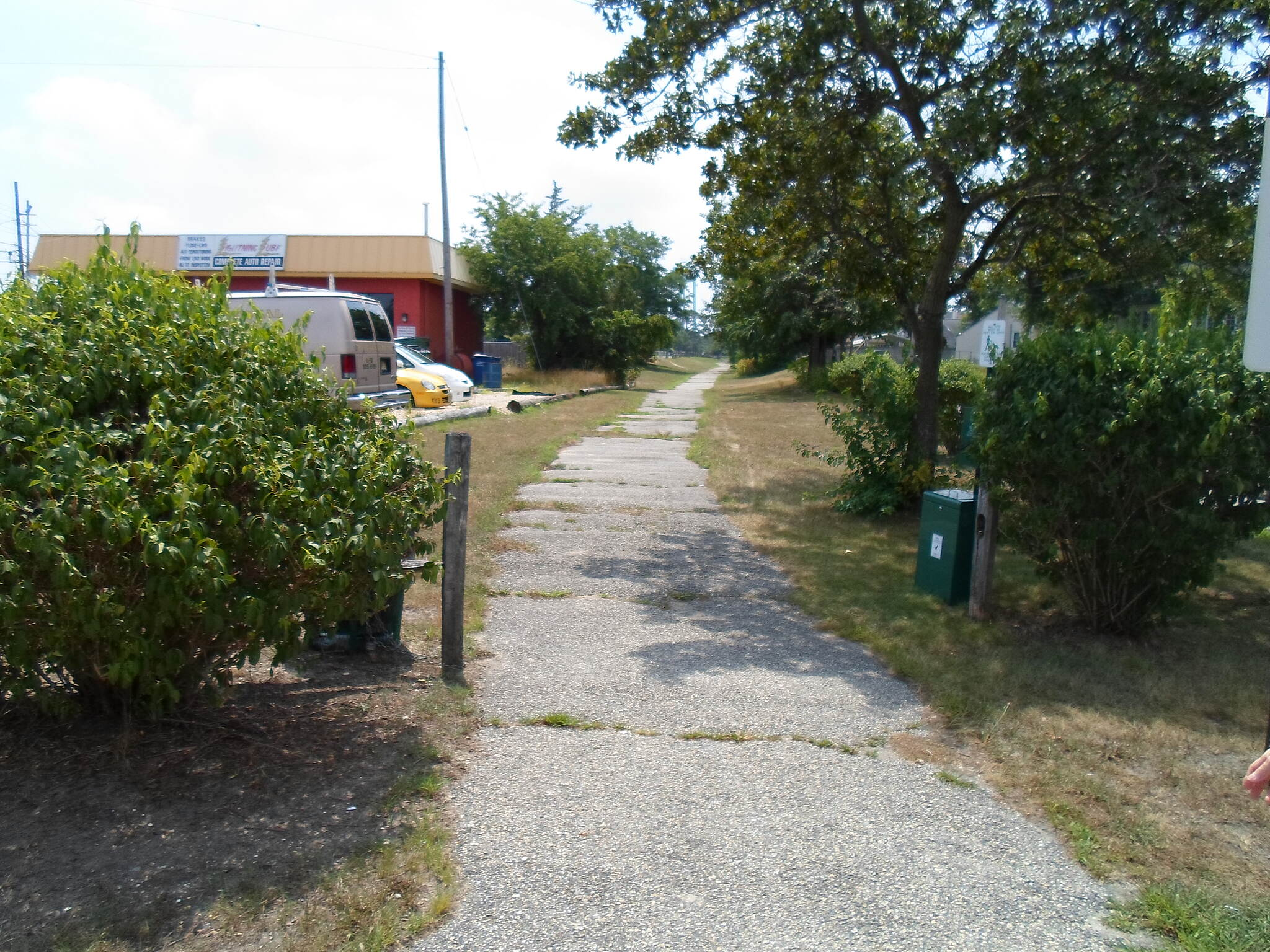Barnegat Branch Trail Beachwood Borough Trail Northern terminus of the trail, off Route 166 (Atlantic City Blvd.). Taken on a hot, summer day in July 2013.