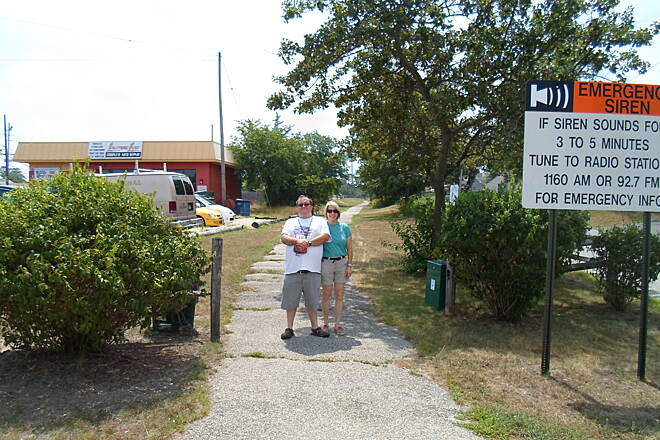 Barnegat Branch Trail Beachwood Borough Trail Posing with my mom (on right) at the trailhead off Route 166 on the north side of town. Taken July 2013.