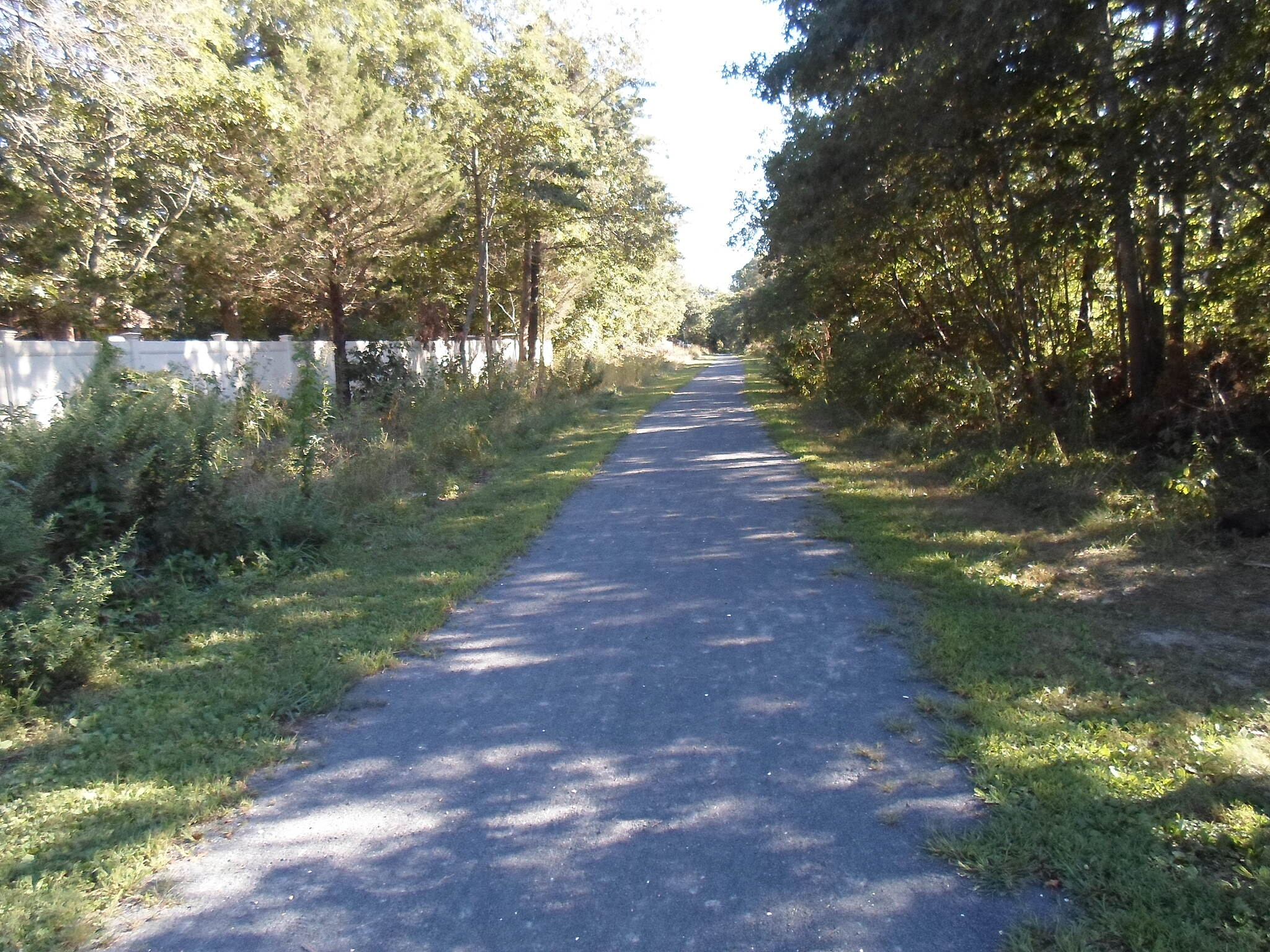 Barnegat Branch Trail Barnegat Branch Trail The Berkley (northern) section of the trail is perfectly straight. Taken September 2013.