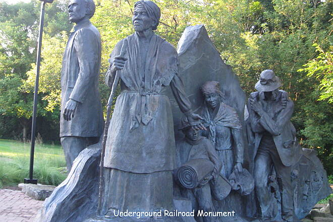 Battle Creek Linear Park Underground Railroad Monument