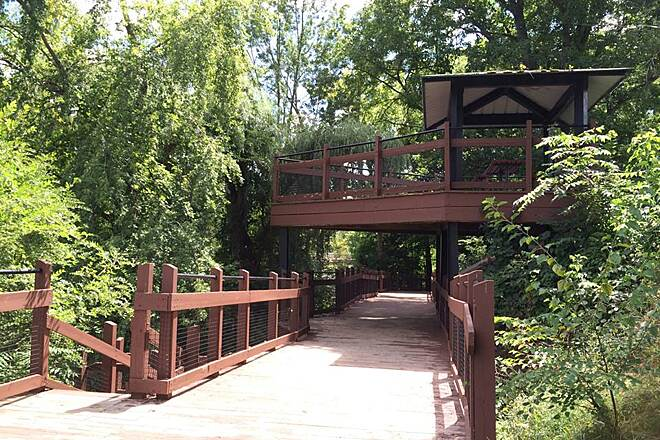 Battle Creek Linear Park Board walk along Wagner Drive