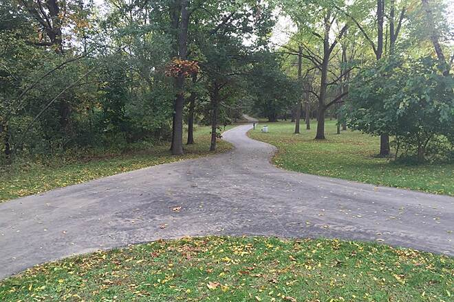 Battle Creek Linear Park New asphalt linear trails