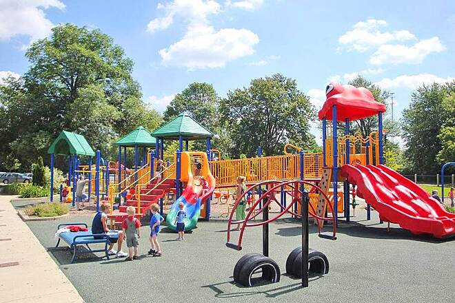 Battle Creek Linear Park NEW playground at CO Brown Sta