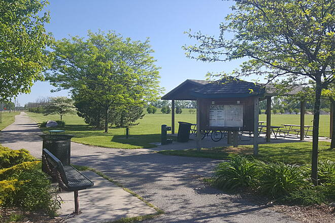 Bay County Riverwalk/Railtrail System Rest area on Patterson Rd.