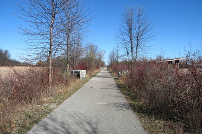 Bay County Riverwalk/Railtrail System Andersen Nature Trail Looking north on trail near the mid-way point
