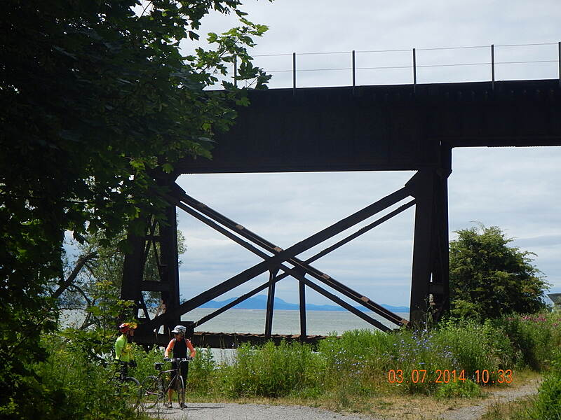 Bay to Baker Trail (Bellingham) The big X Under Rail Road 3 Jul 2014