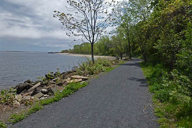 Bayshore Trail (Henry Hudson Trail)  Nearing the end of the trail which leads to a parking area with bathrooms.