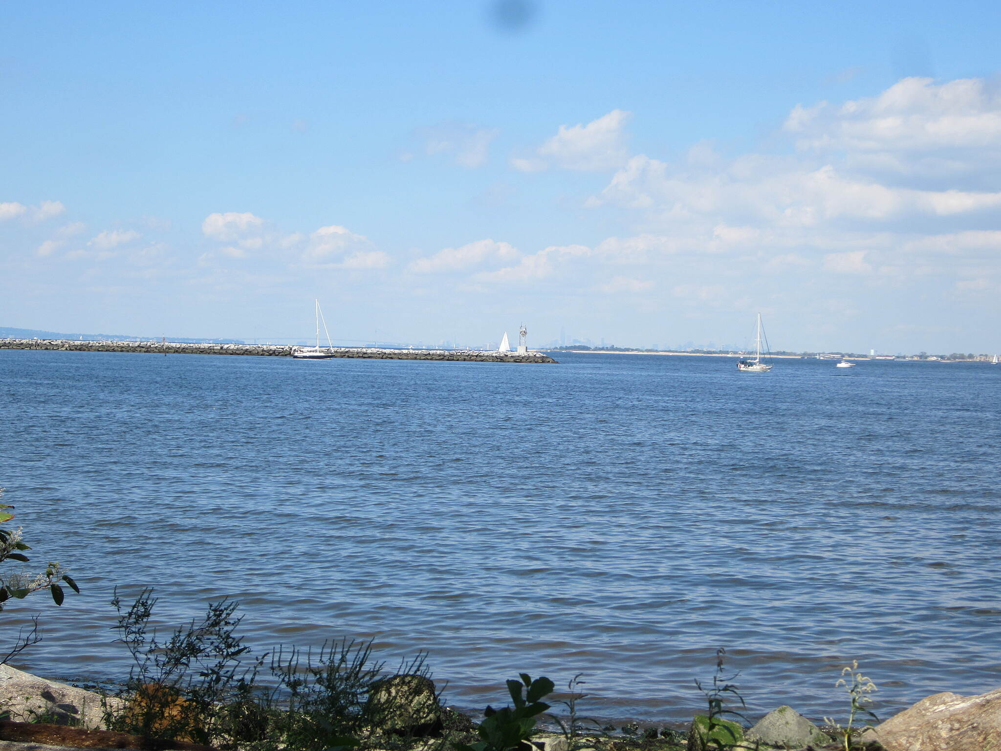 Bayshore Trail (Henry Hudson Trail) View The view from the bench