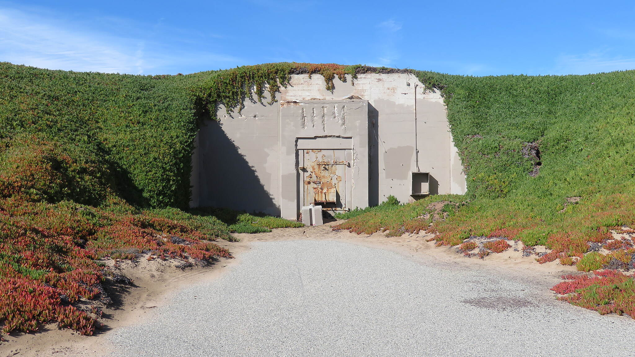 Beach Range Road Multi-Use Trail Munitions Bunker Old Fort Ord bunker