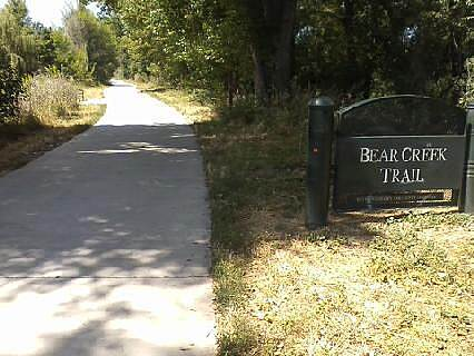 Bear Creek Trail (Denver) Sign at East End of Trail