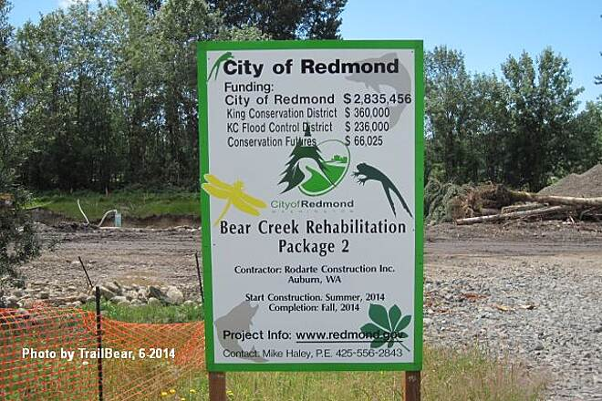 Bear Creek Trail (WA) BEAR CREEK TRAIL The dig up the creek project revealed.