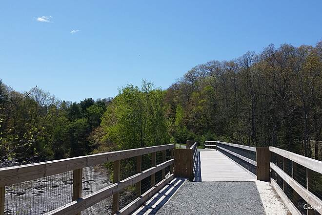 Belfast Rail Trail on the Passagassawaukeag Bridge Over Passagassawaukeag Nicely restored with new deck.