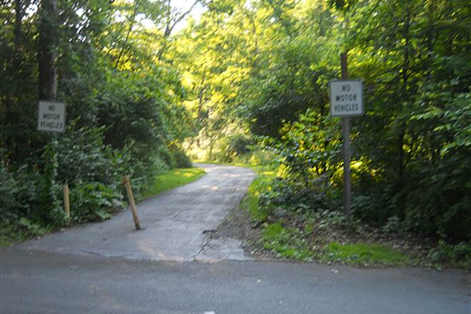 Bellefonte Central Rail Trail Beginging of trail