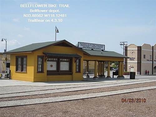 Bellflower Bike Trail BELLFLOWER BIKE TRAIL The Bellflower Depot - train side