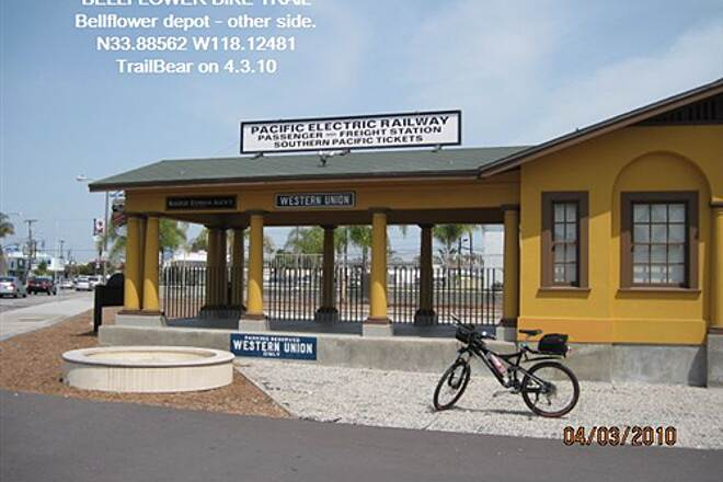 Bellflower Bike Trail BELLFLOWER BIKE TRAIL The Depot - front side