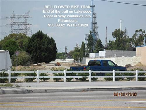 Bellflower Bike Trail BELLFLOWER BIKE TRAIL End of the line at Lakewood Blvd.