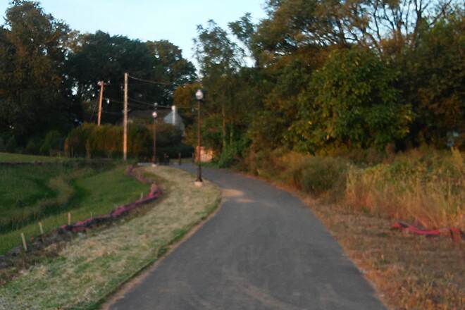 Belmont Trail Belmont Trail Looking east on the trail toward Crescent Ave.