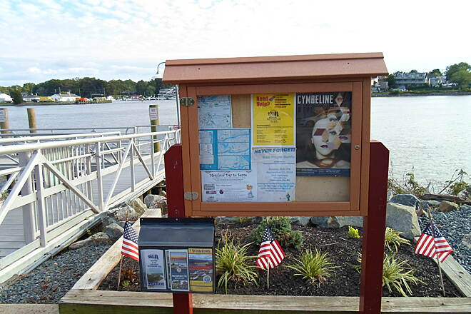 Ben Cardin C&D Canal Recreational Trail Ben Cardin Rec. Trail This kiosk is at the western terminus of the trail in Chesapeake City.