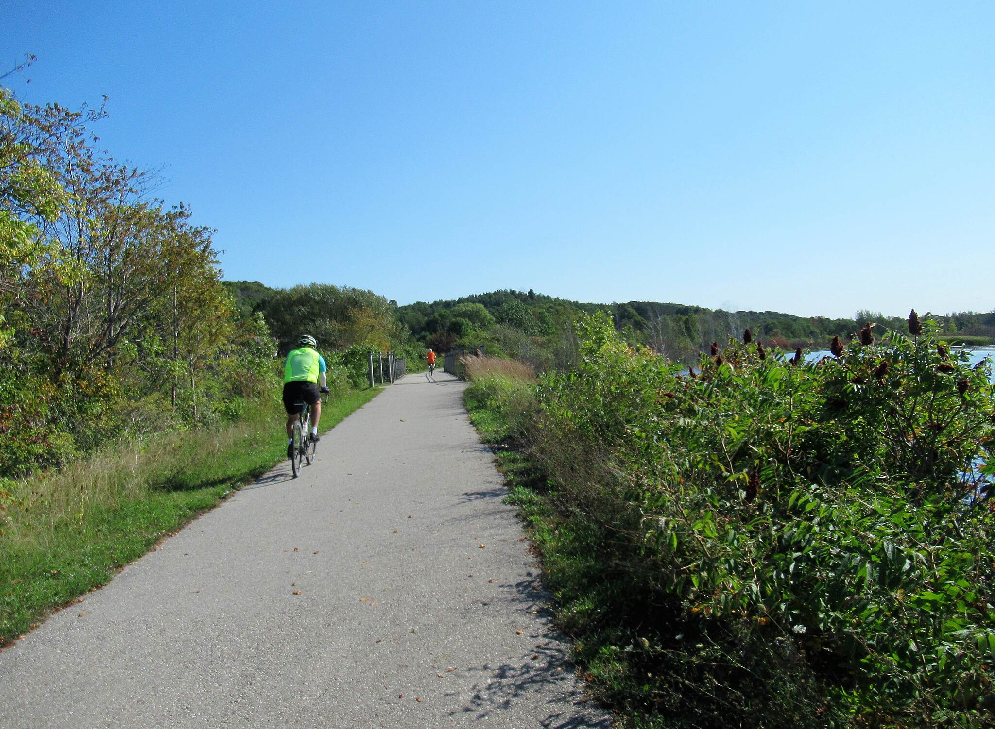 Betsie Valley Trail Cyclists along the trail  September 2019, cyclists along the trail .