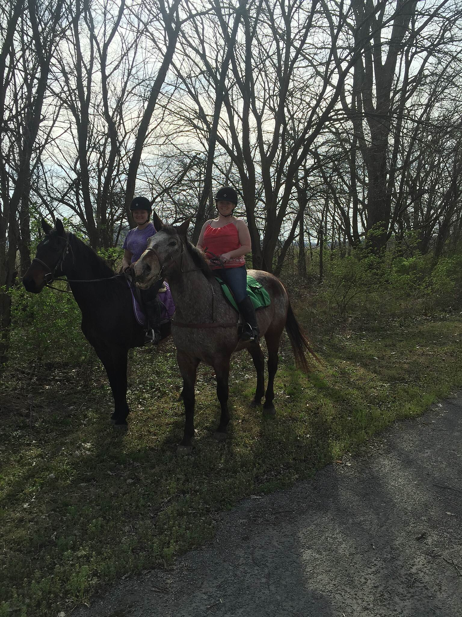 Big 4 Trail (Lebanon to Thorntown) Equestrian Path along the Big-4 Trail Young Equestrian users enjoying the wonderful Spring day on the Big-4 Trail near Lebanon.
