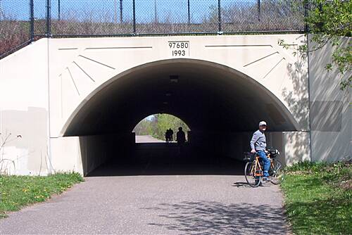 Big Rivers Regional Trail Big River An underpass enroute to St. Paul.