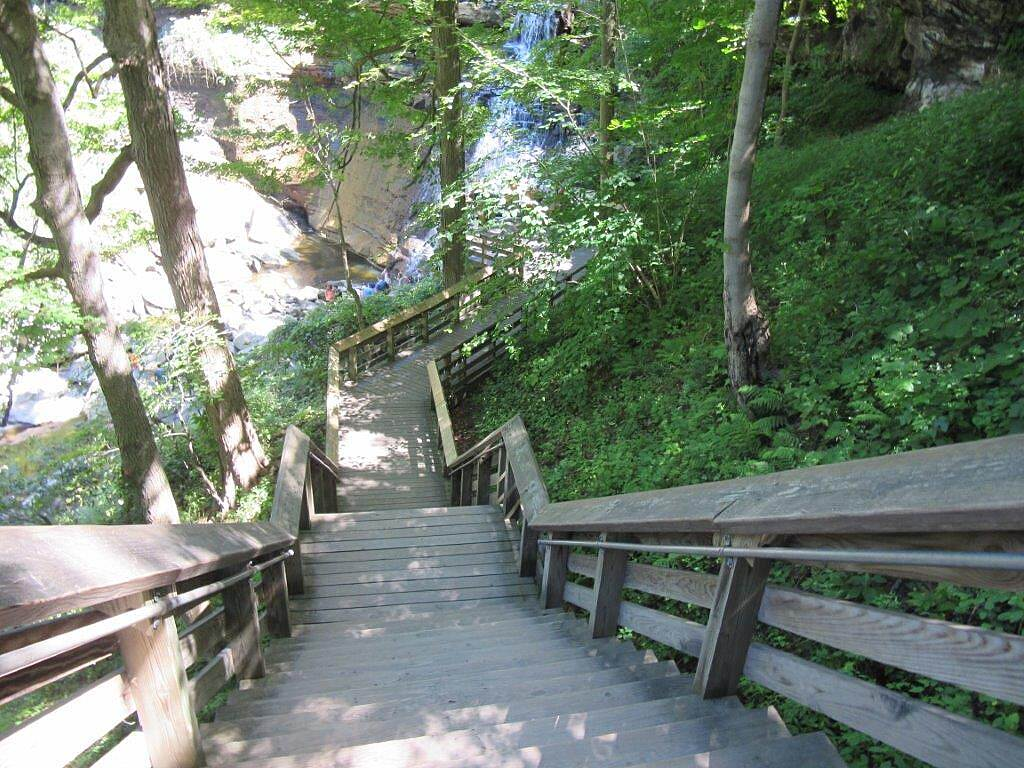 Bike and Hike Trail Brandywine Falls August 2015, Brandywine Falls in the Cuyahoga National Park.