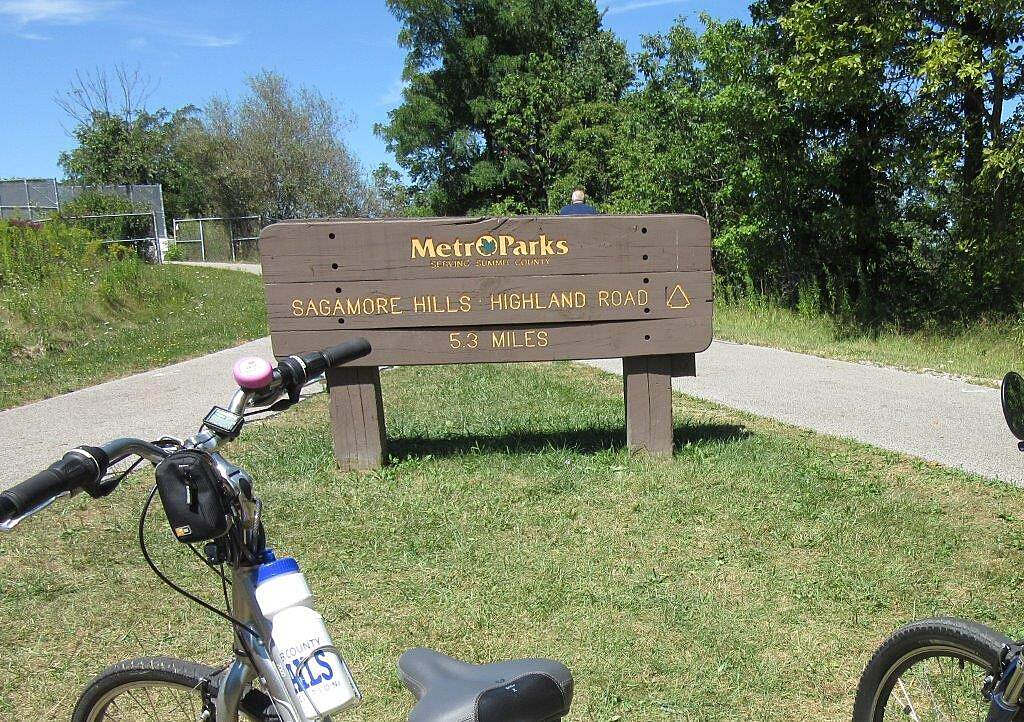 Bike and Hike Trail Trail Sign August 2015 trail sign