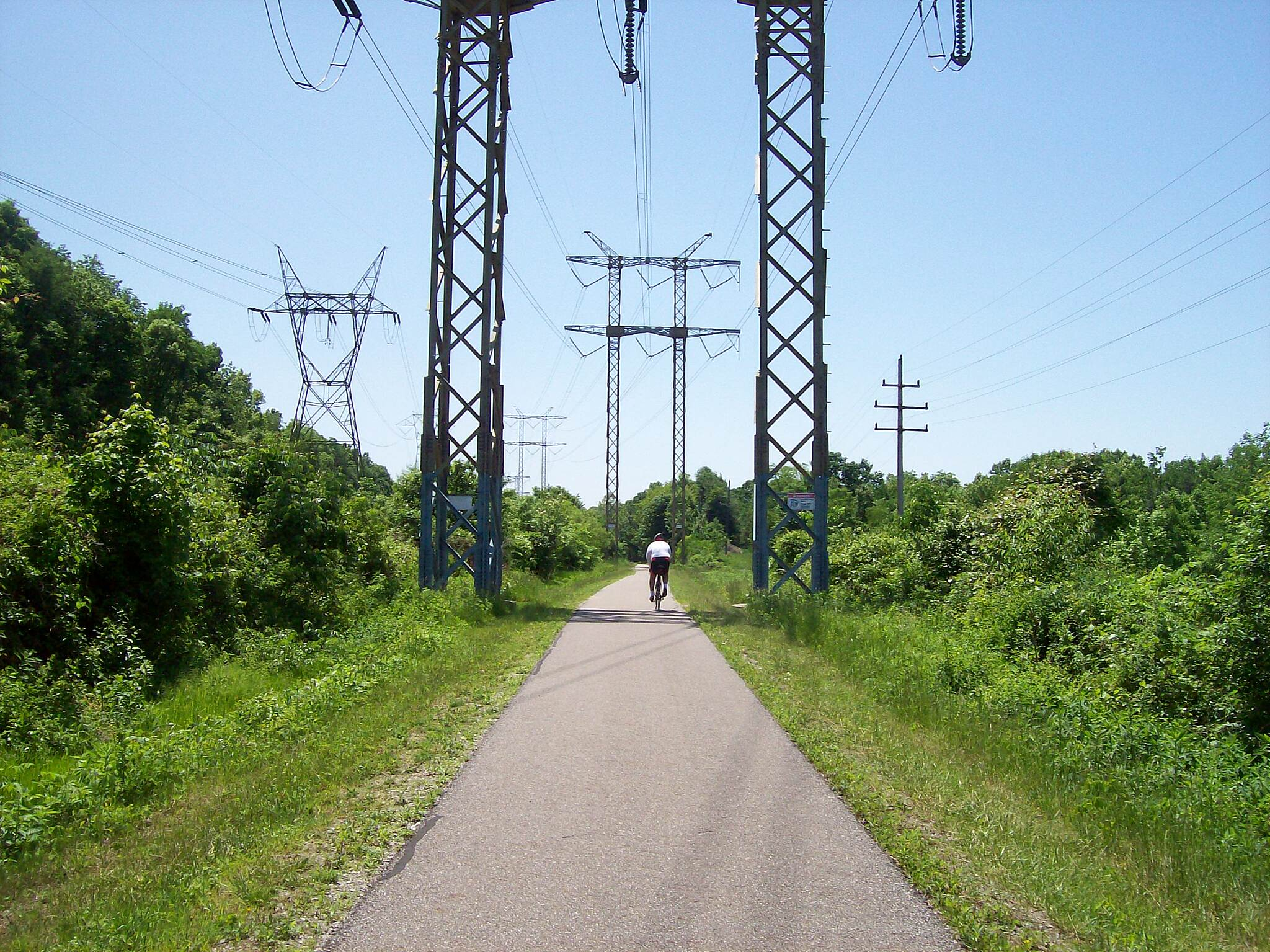 Bike and Hike Trail Thru the towers  First few miles went along and thru some high tension wire towers