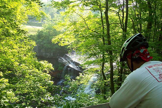 Bike and Hike Trail Brandywine Falls Don't miss stopping and viewing the falls off Brandywine Rd.