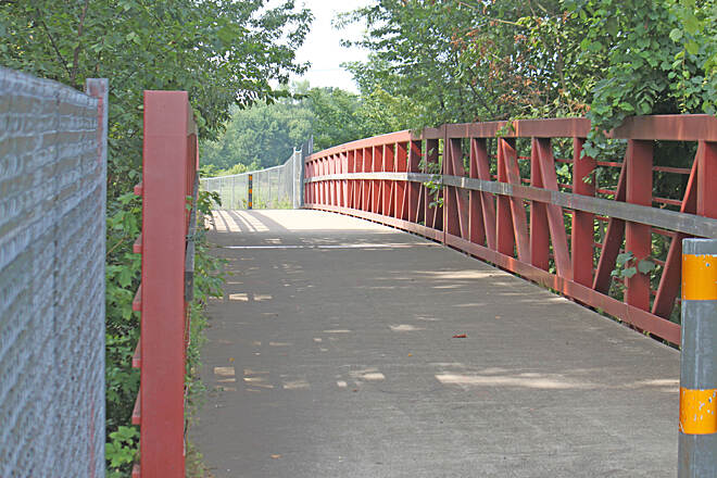 Bike and Hike Trail Bike and Hike Trail bridge to Galt Park