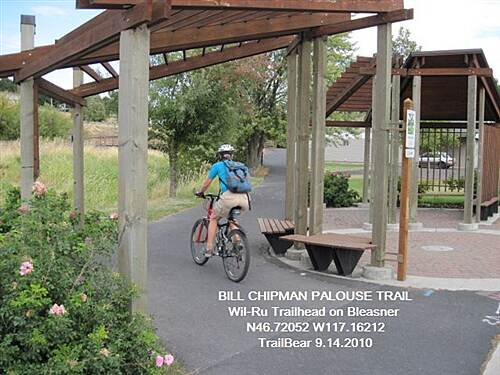 Bill Chipman Palouse Trail BILL CHIPMAN PALOUSE TRAIL Wil-Ru trailhead on Bleasner Dr., Pullman