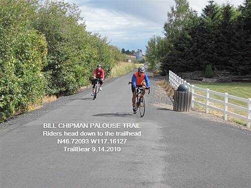 Bill Chipman Palouse Trail BILL CHIPMAN PALOUSE TRAIL Heading for the trailhead